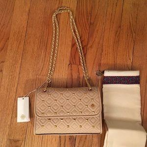 54051b247e093 Tory Burch Bags - NWT Tory Burch Authentic Fleming Stud Shoulder Bag
